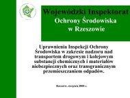 Uprawnienia Inspekcji Ochrony Środowiska w zakresie nadzoru nad ...