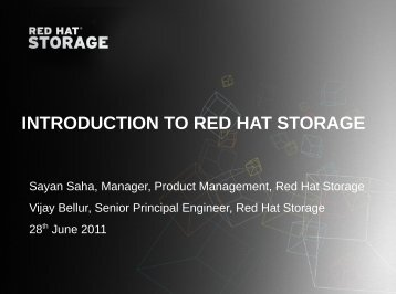 INTRODUCTION TO RED HAT STORAGE - Red Hat Summit