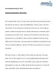 2012 Formandens beretning - Horsens Svømmeklub