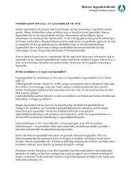 informasjon om salg av legemidler til dyr - Statens legemiddelverk