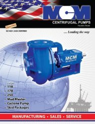 MCM 250 Centrifugal Pump - C & B Pumps and Compressors