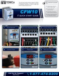 CFW10 Quick Start Guide - TEMCo Industrial Power Supply