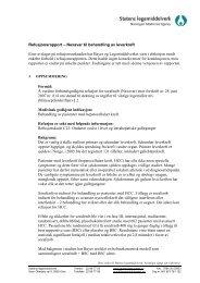 Refusjonsrapport – preparat til behandling av (sykdom) - Statens ...
