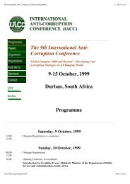 Full Conference Programme - International Anti-Corruption ...