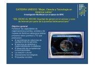 """CATEDRA UNESCO """"Mujer, Ciencia y Tecnología en América Latina"""""""
