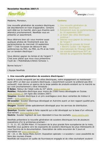 Newsletter Nr. 5 (PDF, 89 KB) - NewRide