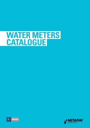 WATER METERS CATALOGUE - Netafim