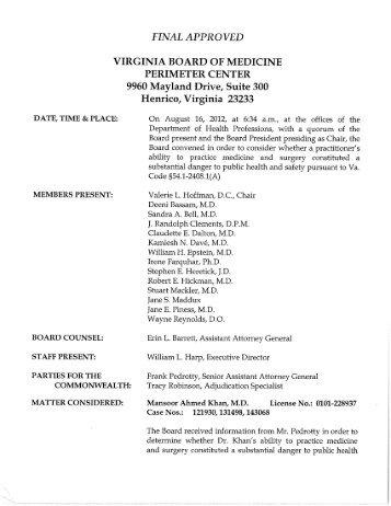 final approved virginia board of medicine perimeter center