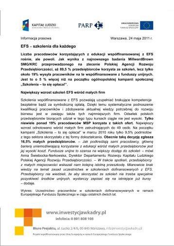 EFS szkolenia dla każdego - Inwestycja w Kadry