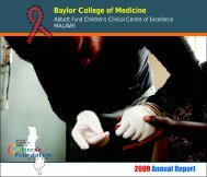 Malawi Annual Report 2009-2010 - Baylor International Pediatric ...