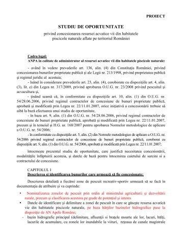 STUDIU DE OPORTUNITATE - AGVPS