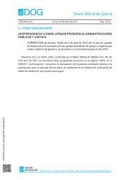 Corrección de orden DOG Lunes, 29 de abril de ... - Xunta de Galicia
