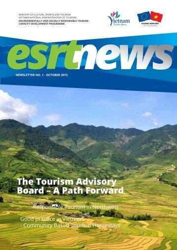 ESRT Newsletter of the Responsible Tourism Programme (Volume 1)