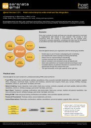 Fact Sheet - iHost Hospitality