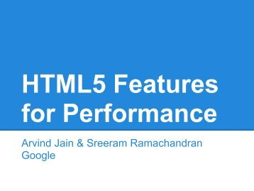 Slide Link - HTML5 Developer Conference