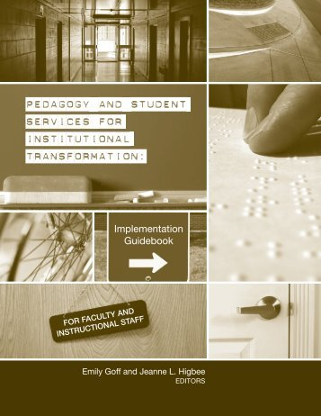 pedagogy and student services for institutional transformation: