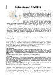 Studienreise nach ARMENIEN