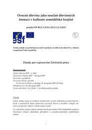 závěrečné práce 2007 - Mendelova zemědělská a lesnická ...
