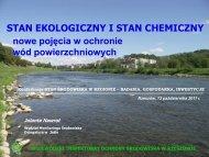 Stan ekologiczny i stan chemiczny - nowe pojęcia w - Wojewódzki ...