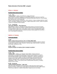 Rijeka Adventure Festivala 2008 - program - Gore-ljudje