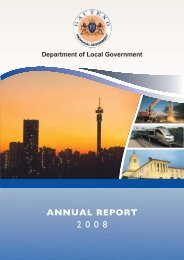 Local Government Annual Report 2008 - Gauteng Online