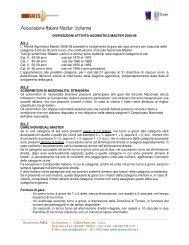 DISPOSIZIONI ATTIVITÀ AGONISTICA MASTER 2008-09 Art. 1 L ...