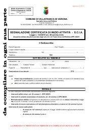 segnalazione certificata di inizio attività - scia - Comune di ...