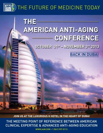 THE AMERICAN ANTI-AGING CONFERENCE - American Academy ...