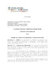 regimen de licencia por maternidad o adopcion unificado. - UnTER