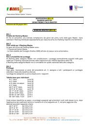 DISPOSIZIONI 2011-12 RANKING MASTER GRAN PREMIO ITALIA ...
