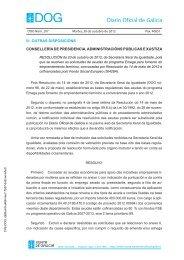 Resolución DOG Martes, 30 de outubro de 2012 - Mulleres en Galicia