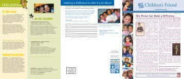 Summer 2008 Newsletter - Children's Friend