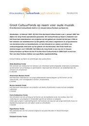 Groot CultuurFonds op naam voor oude muziek - Prins Bernhard ...