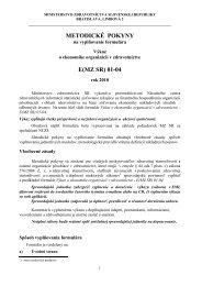 metodické pokyny e(mz sr) 01-04 - Národné centrum zdravotníckych ...