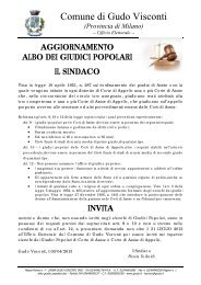 Aggiornamento Albo Giudici Popolari 2013 - Comune di Gudo Visconti