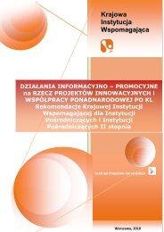 Działania informacyjno-promocyjne na rzecz projektów ...
