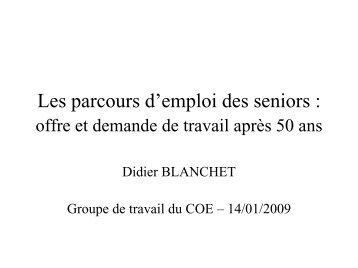 Les parcours d'emploi des seniors : offre et demande de ... - COE