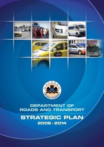 DRT Strategic Plan 2009-2014 - Gauteng Online