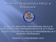 Udział sił i środków podkarpackiej Policji w działaniach