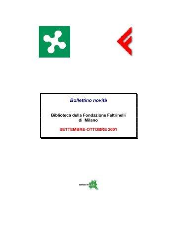 Bollettino novità - Giangiacomo Feltrinelli Editore