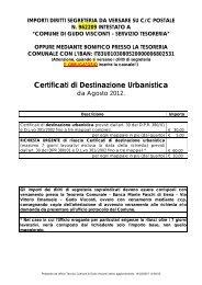 Certificati di Destinazione Urbanistica - Comune di Gudo Visconti