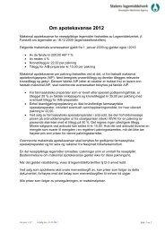 Om apotekavanse 2012 - Statens legemiddelverk