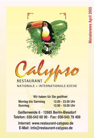 Geißenweide 6 . 12685 Berlin-Biesdorf Telefon: 030-543 60 90 . Fax ...