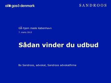 Udbud - Sandroos Advokatfirma