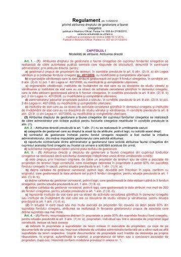 privind atribuirea dreptului de gestionare a faunei ... - AGVPS
