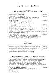 Speisekarte 1.3.11 - Restaurant Calypso