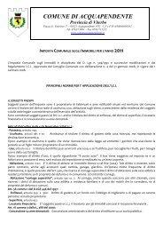 opuscolo ICI anno 2011.pdf - Comune di Acquapendente
