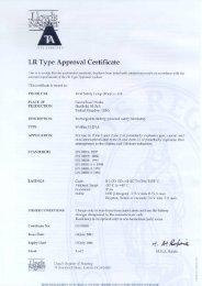 LR Type Approval Certificate - Tecniquitel