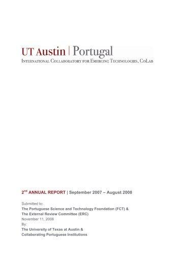 CoLab Annual Report 2007-2008 - UT Austin Portugal CoLab