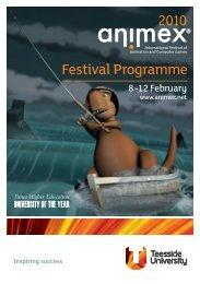 Download last year's festival programme. - Animex - Teesside ...